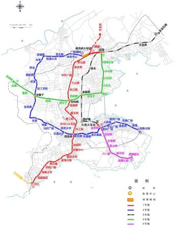 大连地铁规划图 线路图图片