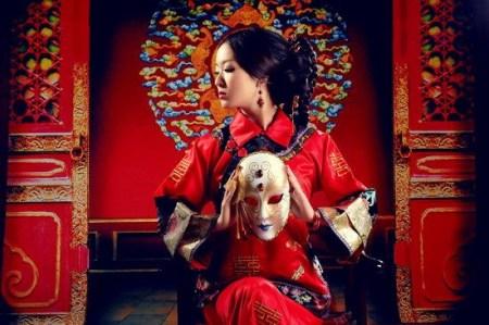 古典东方气质的中式婚纱