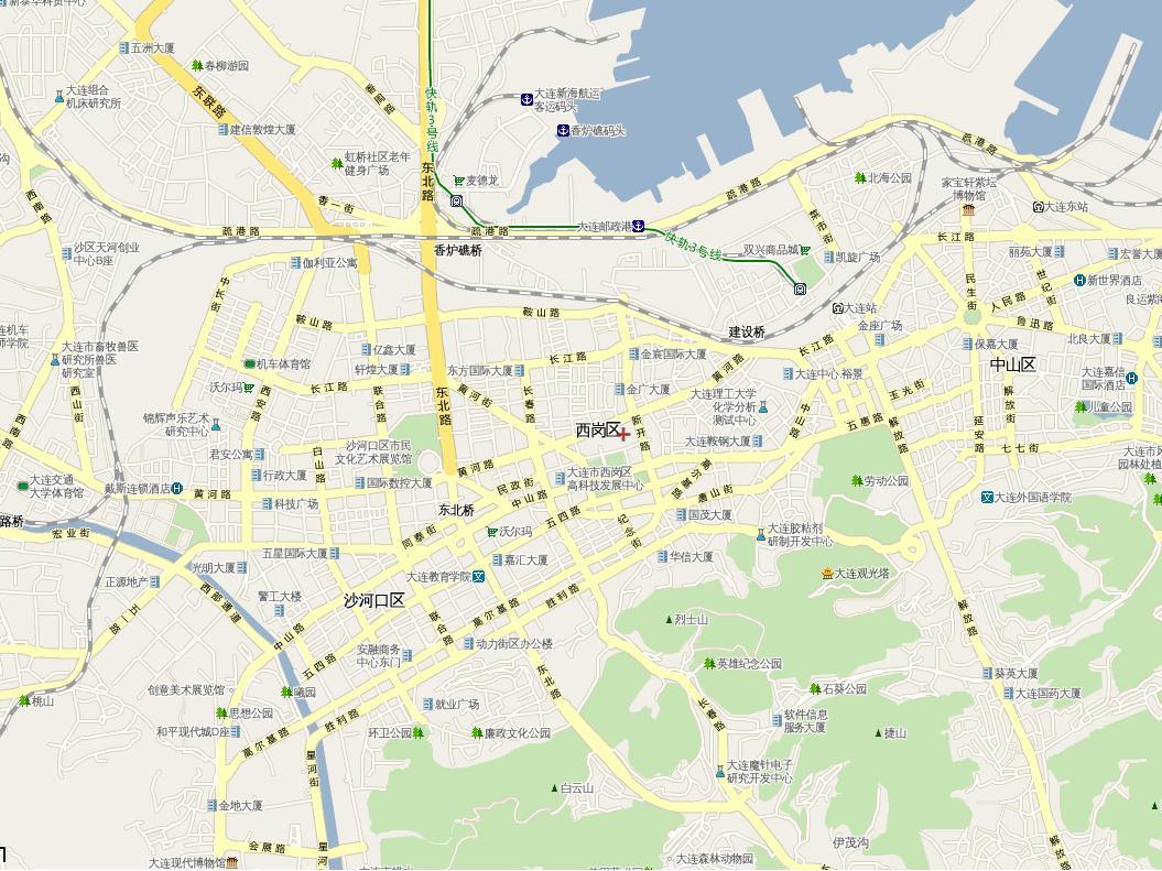 大连高清地图 大连地图卫星地图 大连开发区地图高清版