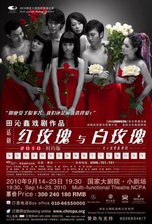 《红玫瑰与白玫瑰》海报