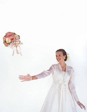 新娘捧花的个性处理法
